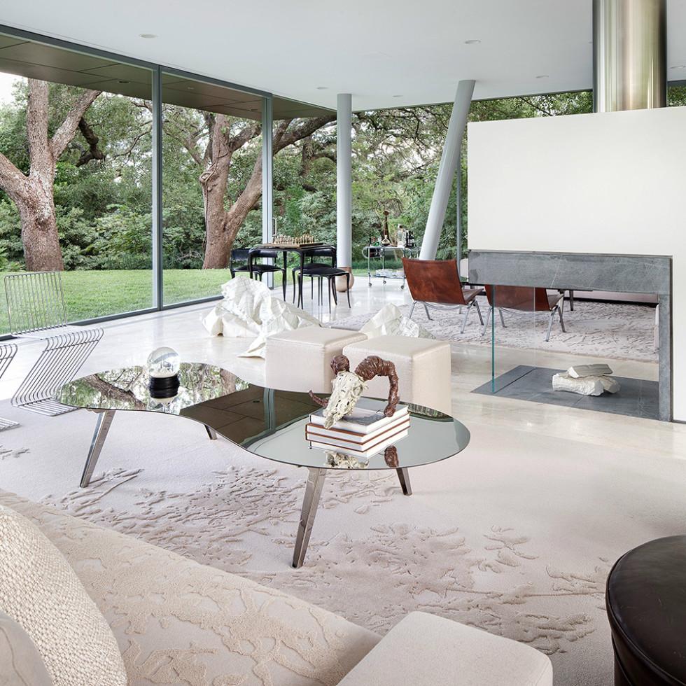 Austin home Floating Box House 900 Live Oak Circle West Lake Hills 78746 April 2016 formal living