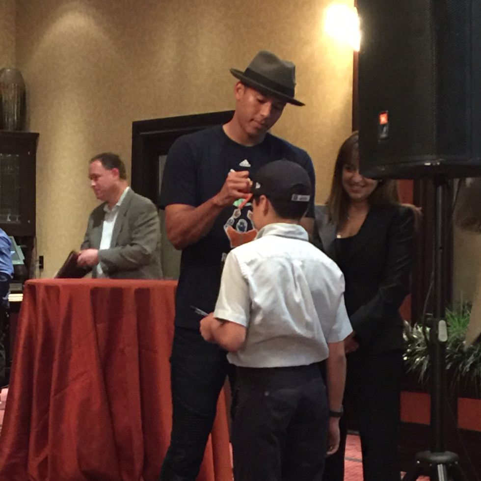 Carlos Correa, Houston Children's Charity lunch, March 2016