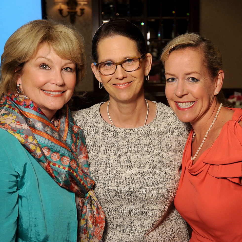 Hospice Butterfly Luncheon, March 2016, Jan Carson, Elizabeth DeLuca, Rosemary Schatzman