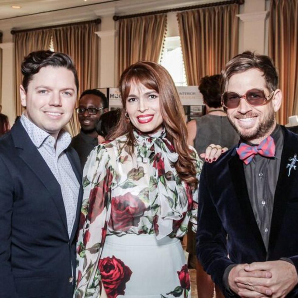 David Peck, Karina Barberi, Jeff Shell at Passion for Fashion luncheon