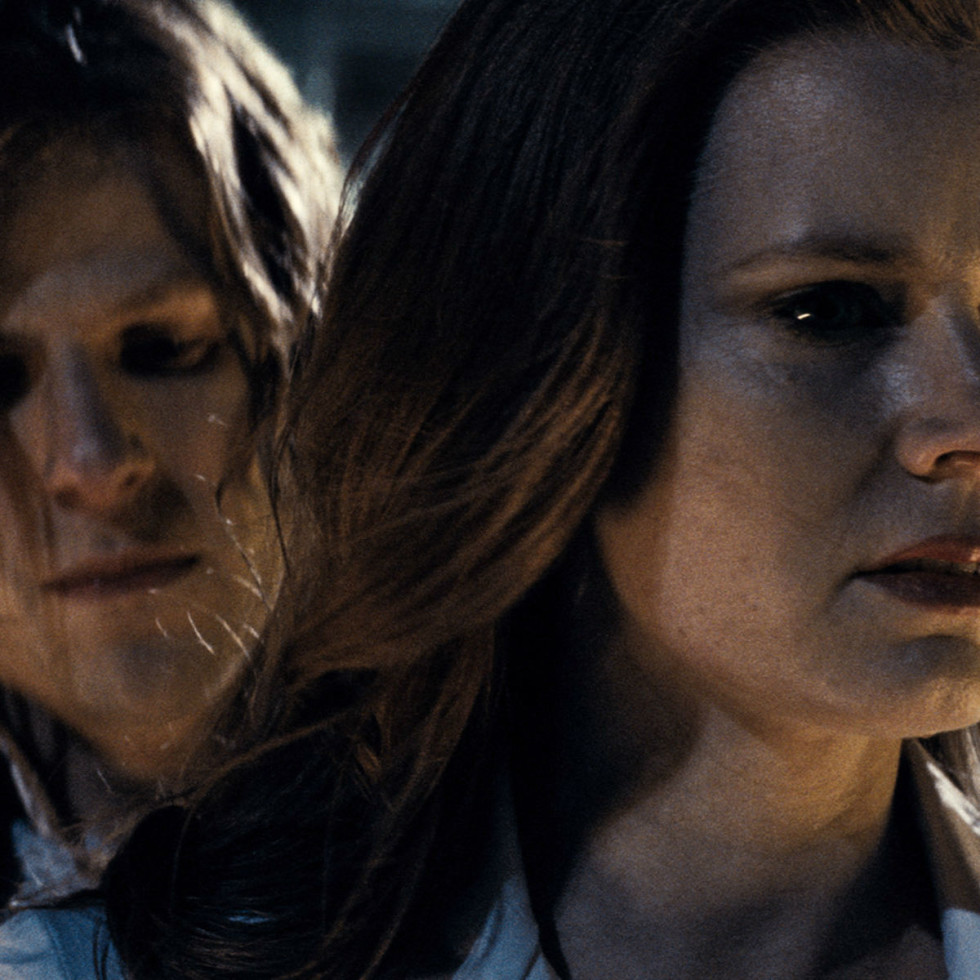 Jesse Eisenberg and Amy Adams in Batman v Superman
