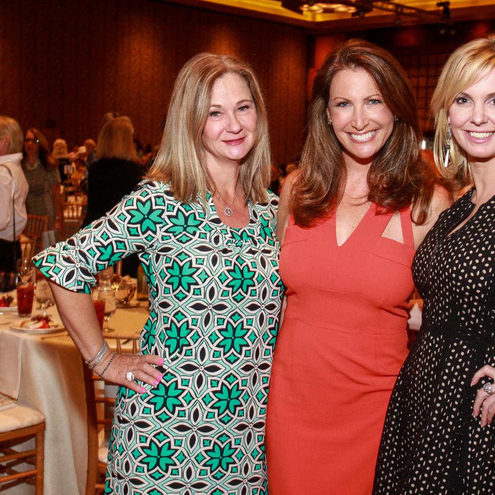 Best Dressed Luncheon, March 2016,Debbie Kay, from left, Julia Gast, Kat Kearns
