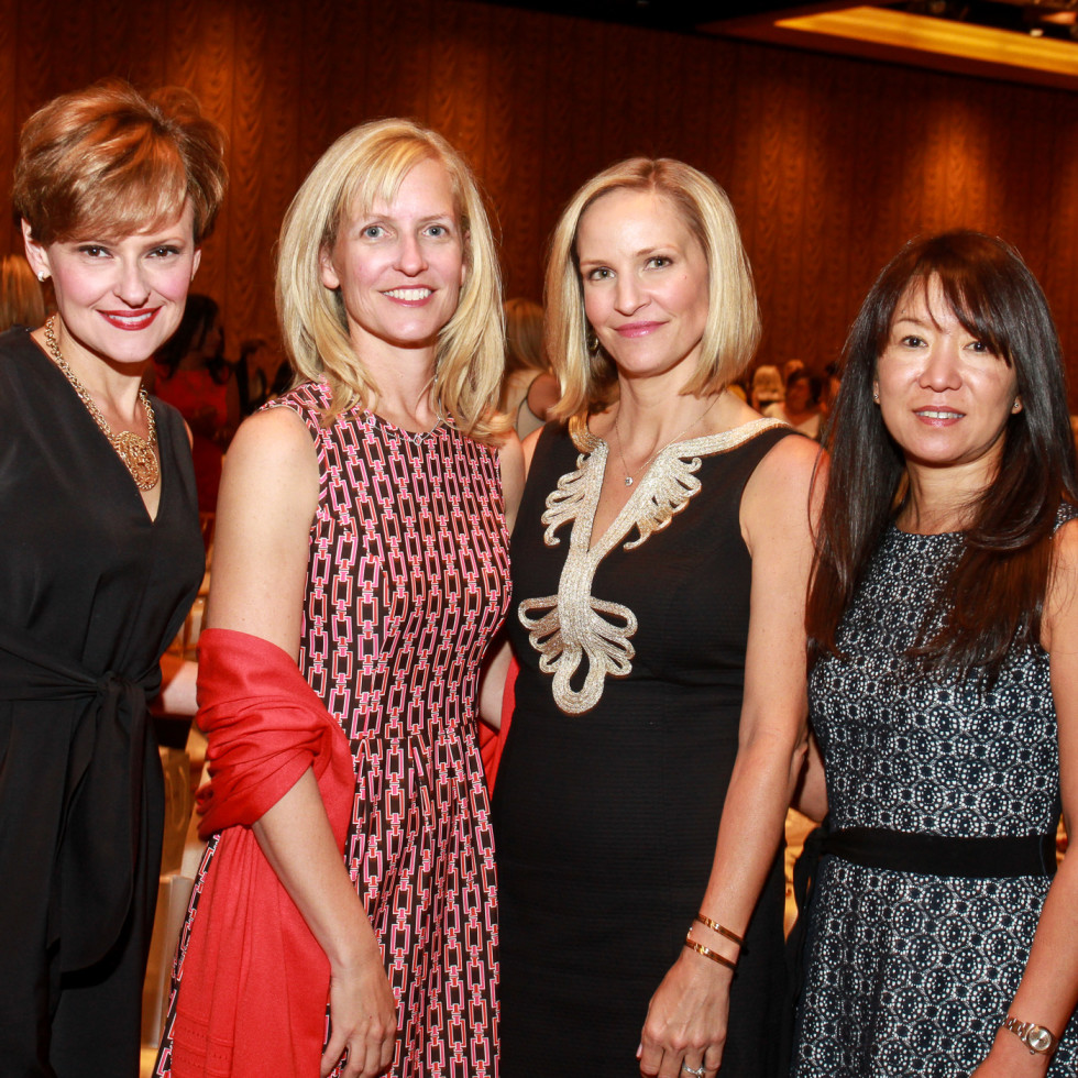 Best Dressed Luncheon, March 2016, Scottie Attaway, from left, Katherine Moore, Padget Hartung and Nancy Pedersen