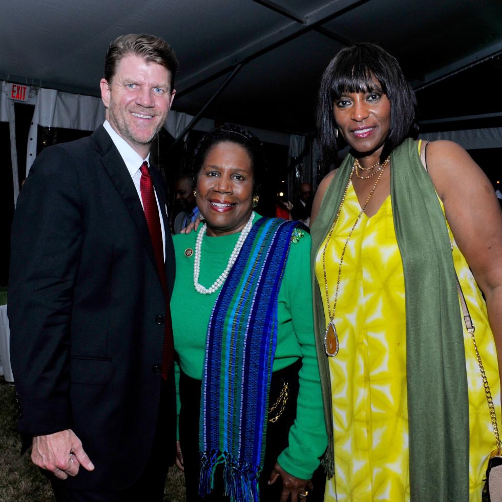 Hermann Park 100th Anny, March 2016, Bill Baldwin, Sheila Jackson Lee, Gail Brown