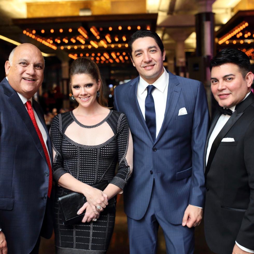 Fred Aguilar, Kirsten Guerra, William Guerra, Edward Sanchez at Stages Gala