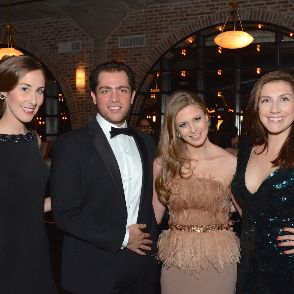 Leigh-Ann Laughlin, Guillermo Sierra, Auction Co-Chairman Tatiana Galitzine, Elizabeth Gregory at Stages Gala