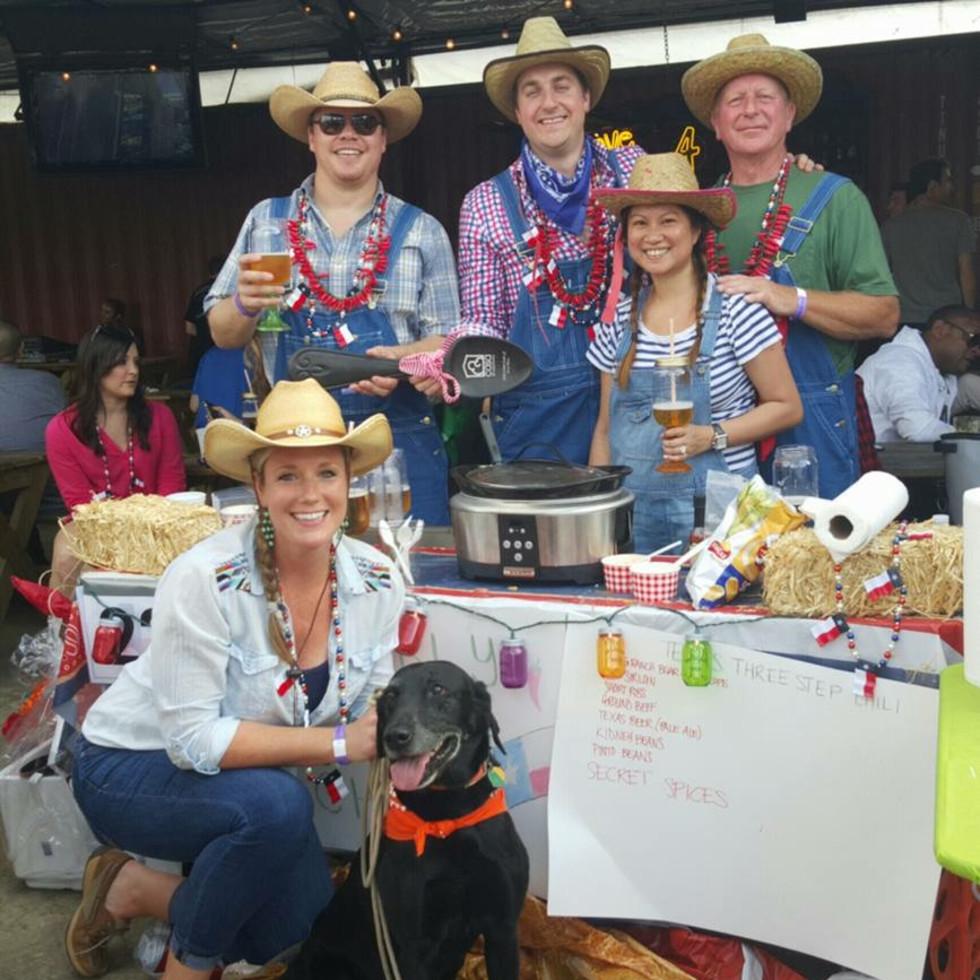 Casa de Esperanza chili cook-off, March 2016, Alison Murphy, Ryan Murphy, Bruce Kish, Minette Corpuz, Bruch Kish Sr.