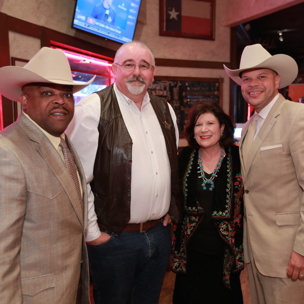 Terence Fontaine, Jack Cagle, Leslie Ward, Kerrick Henny at Mayor's Rodeo Houston kickoff breakfast