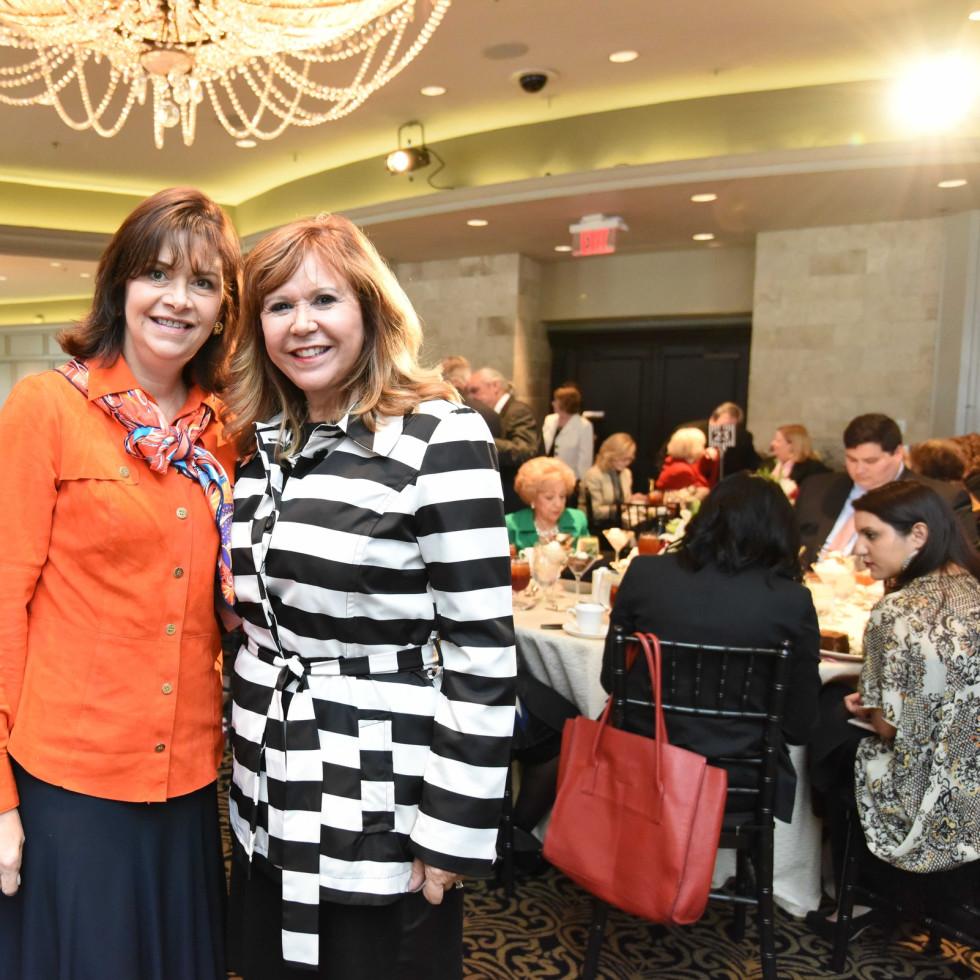 El Centro luncheon, Feb. 2016, Roxann Neumann, Cyndy Garza Roberts