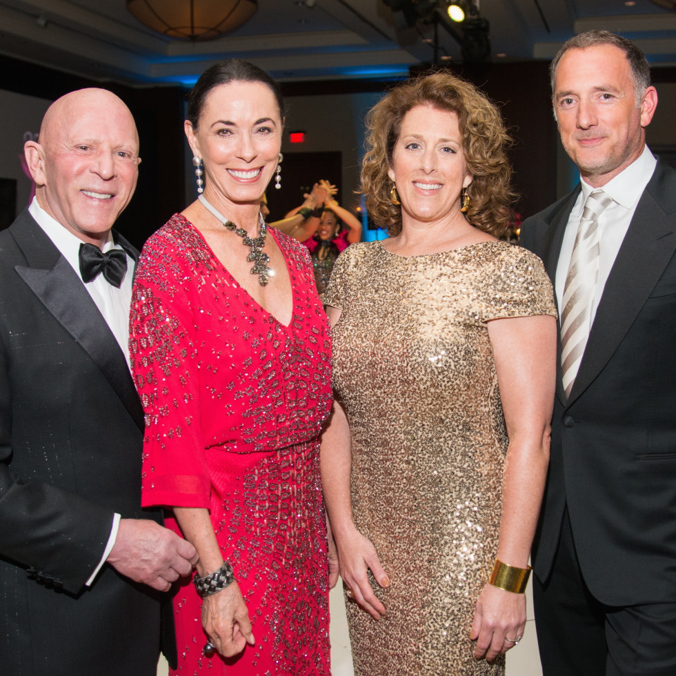Komen Foundation Gala, Feb. 2016, Lester Smith, Sue Smith, Shelly Hendry, Brian Hendry