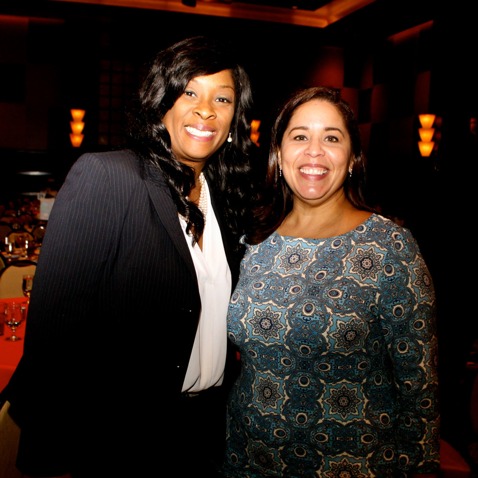 Neighborhood Centers luncheon, Feb. 2016, Yolanda Green, Grace Olivares
