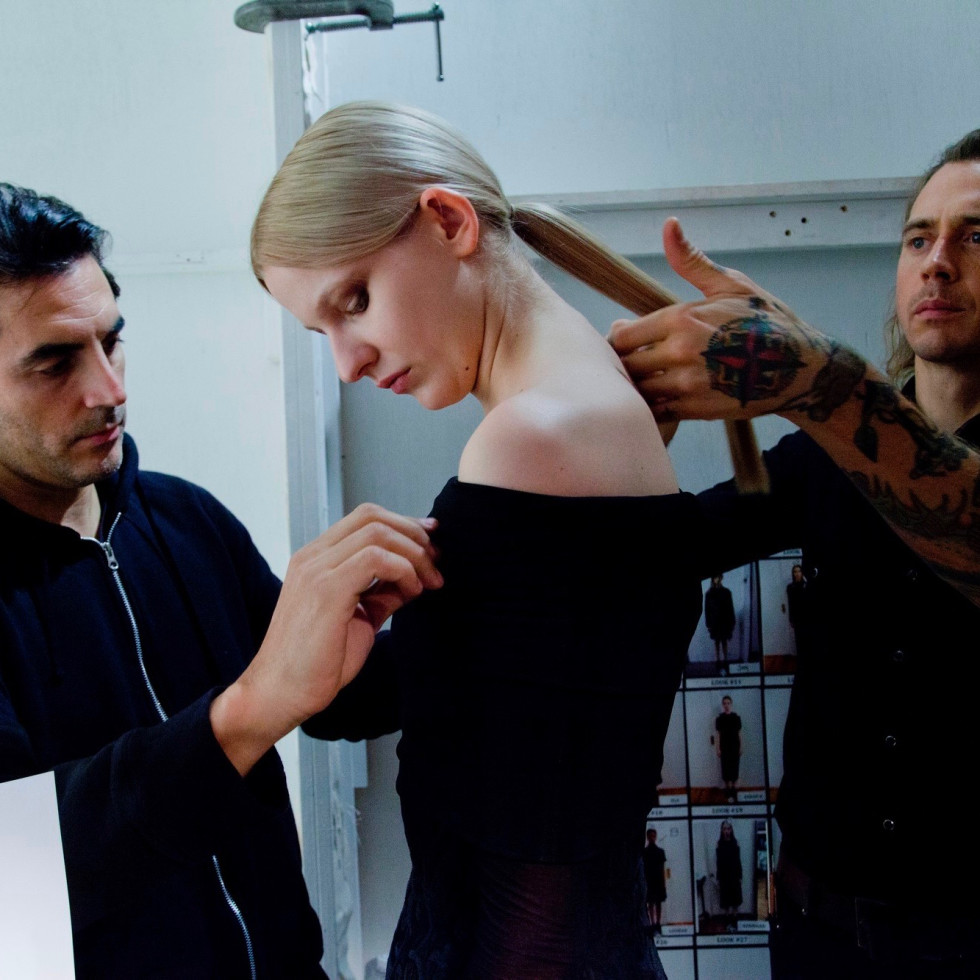 Yigal Azrouel backstage fall 2016 collection