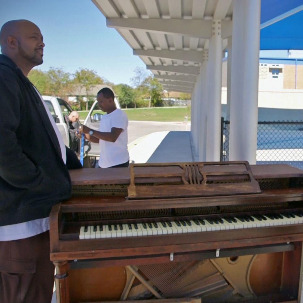 Nathan Felix donating pianos arts in context