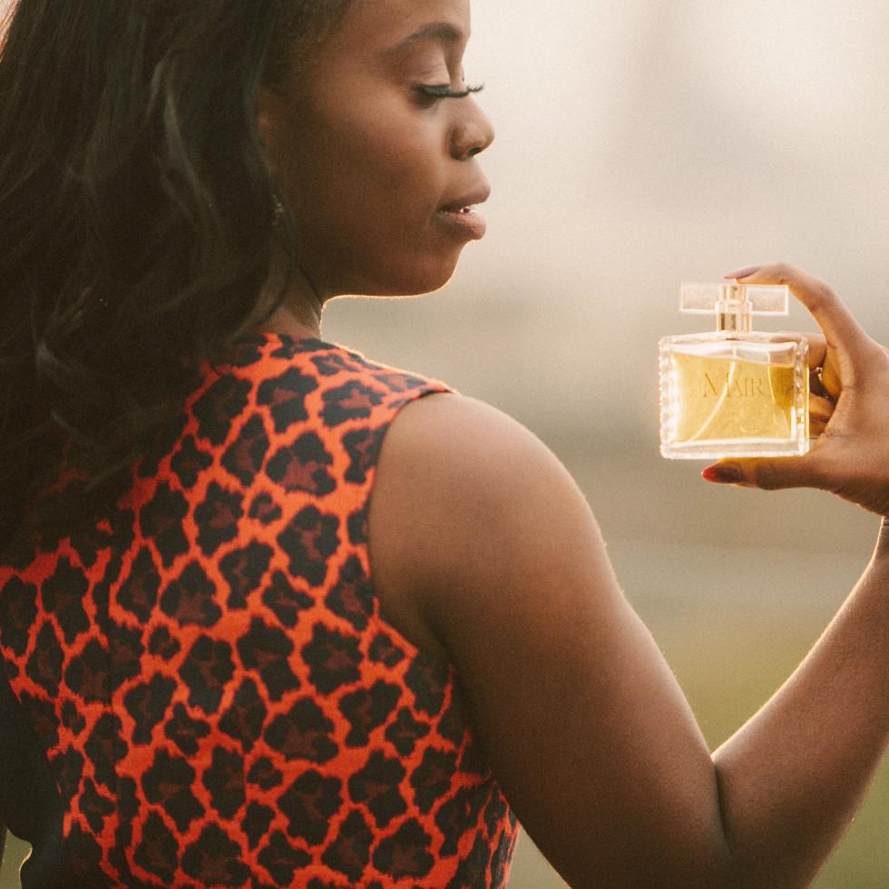 Mair Emenogu photo with fragrance 2