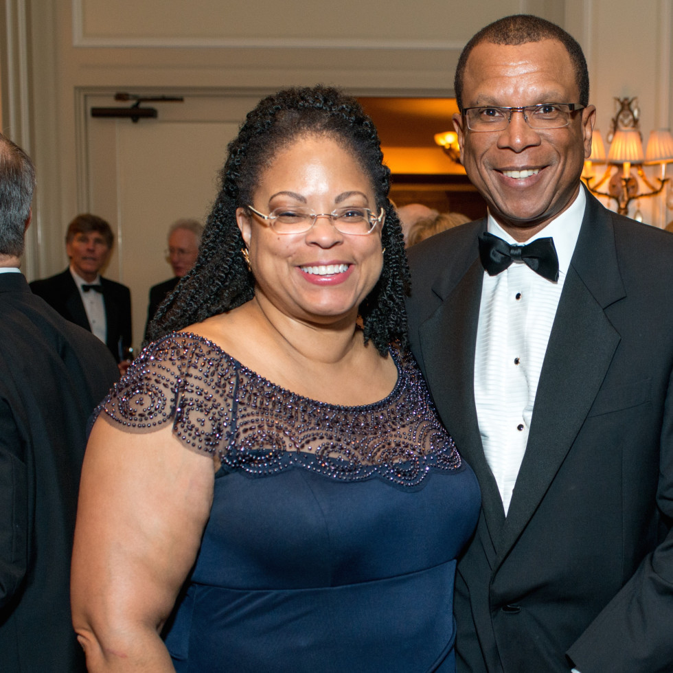 Marcia West and Ron Lewis at Inprint Gala