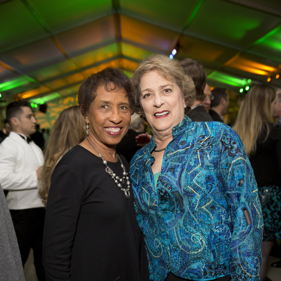 Memorial Park Conservacy Gala, Feb. 2016, Sharon Owens, Ellen Cohen