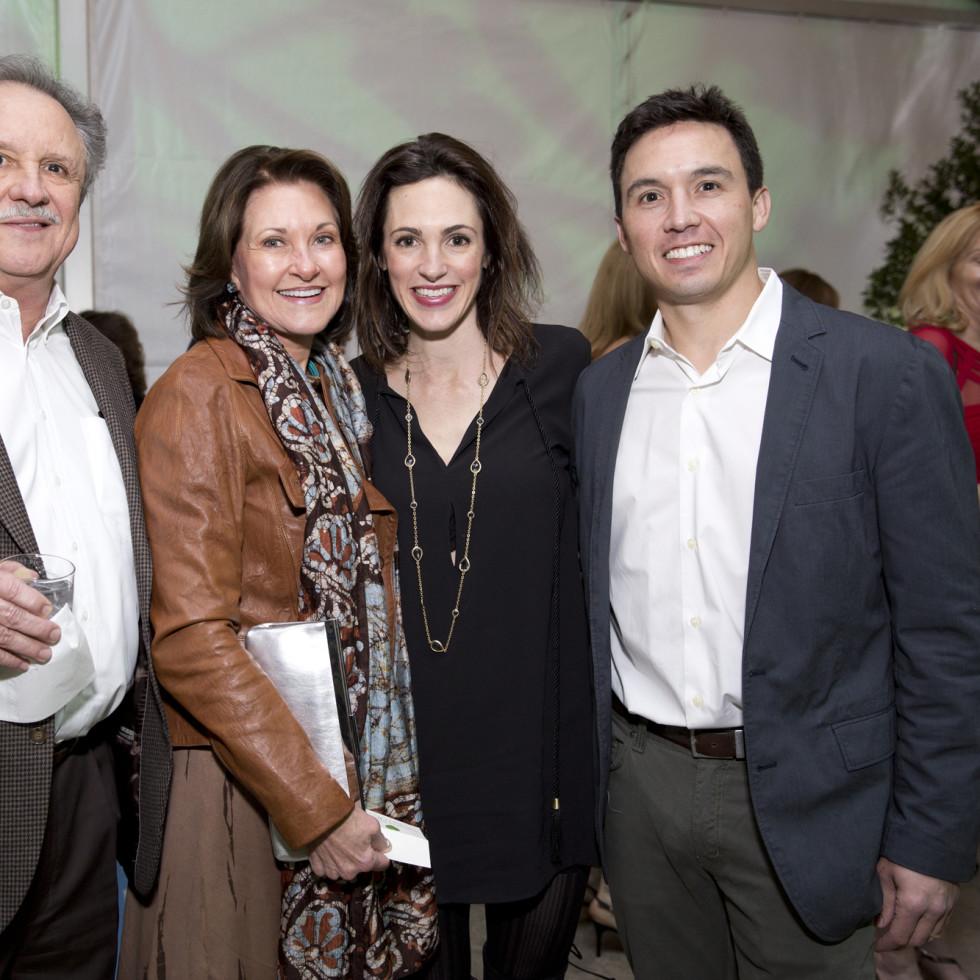 Memorial Park Conservacy Gala, Feb. 2016, Ben and Margaret Morris, Lindsay and Alex Mousoudakis