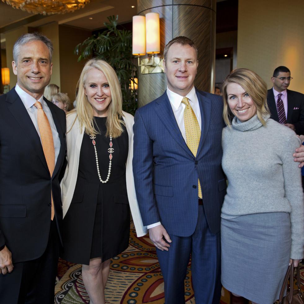Bo's Place Luncheon, Feb. 2016, Jason West, Jenny West, David Shine Jade Shine