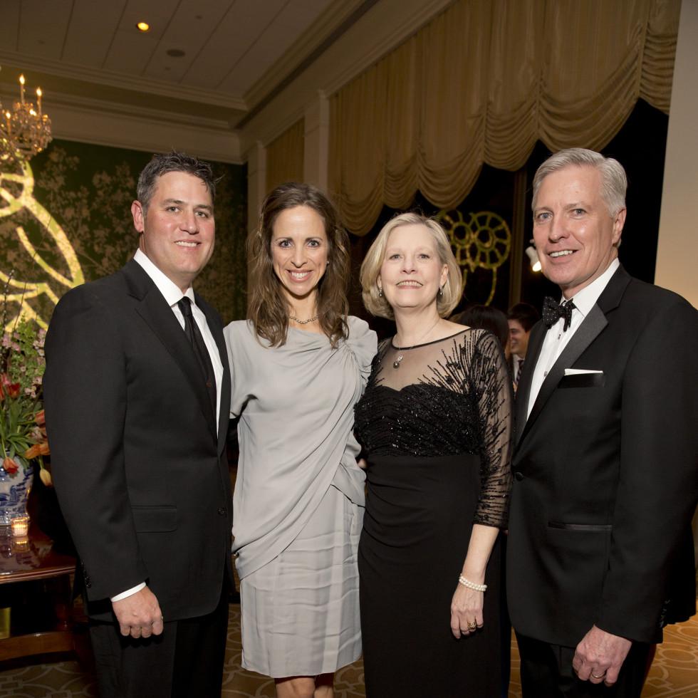 Friends of Fondren Library, Feb. 2016, Lance Berkman, Cara Berkman, Karen George, Larry George