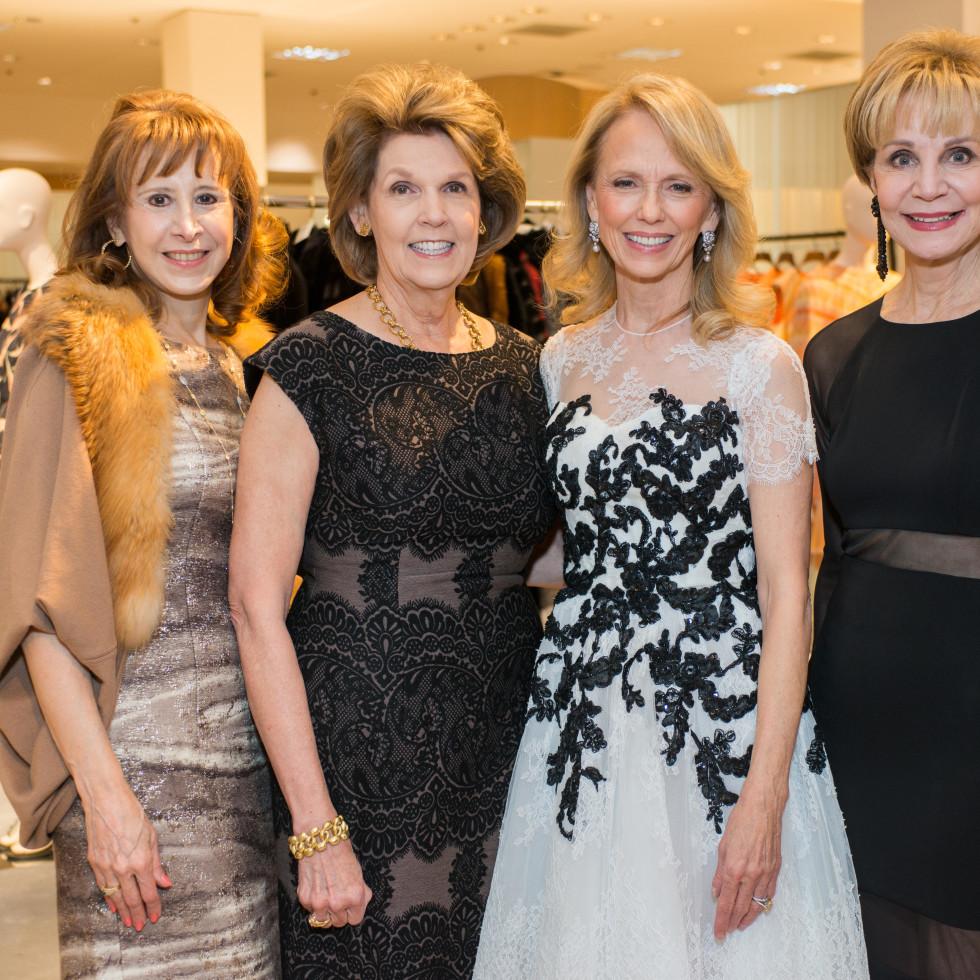 Best Dressed, Jan. 2016,  Vicki West, Lilly Andress, Susan Sarofim, Leisa Holland Nelson