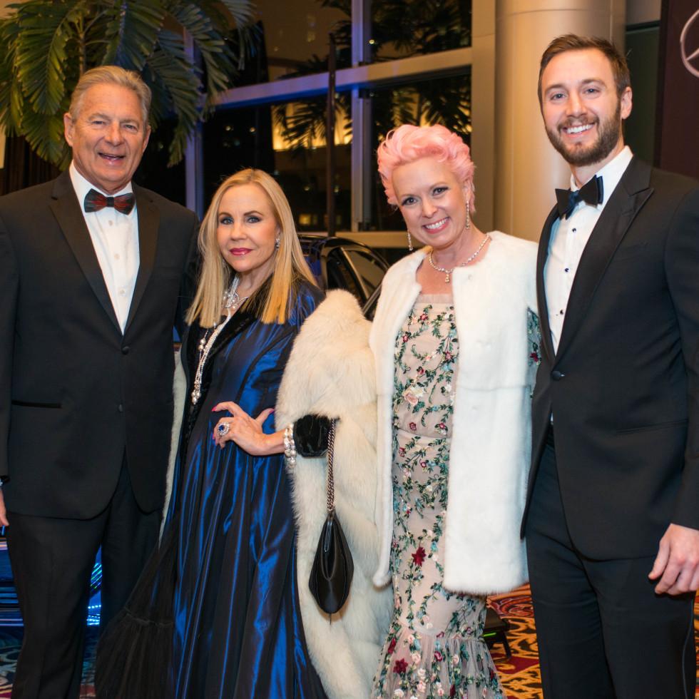 Winter Ball 2016 Charles Ward, Carolyn Farb, Vivian Wise, Justin Makras