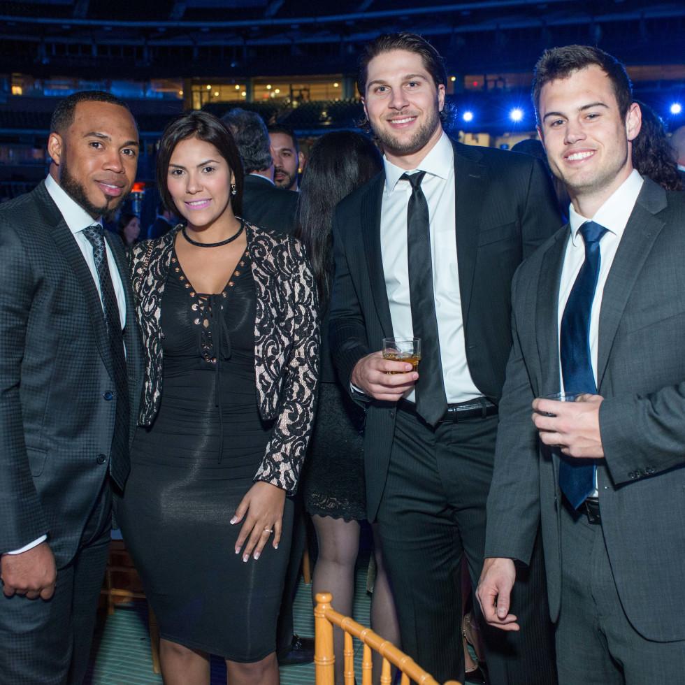 Astros Diamond Gala, Jan. 2016, Luis & Magela Valbuena, Jake Marisnick, Preston Tucker