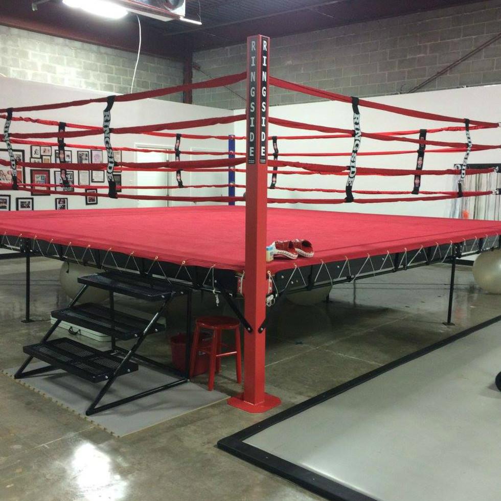 Austin Boxing Babes Manchaca Road South location ring