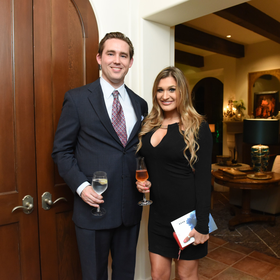 Houston, JDRF Promise Ball kick off party, January 2016, William Hagans, Lauren Donohue