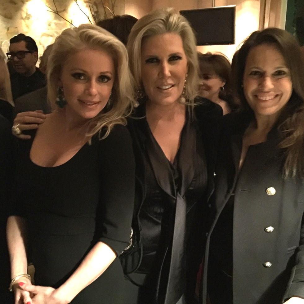 Louvre Party at Becca's, Jan. 2016, Joyce Echols, Courtney Hobson, Tammy