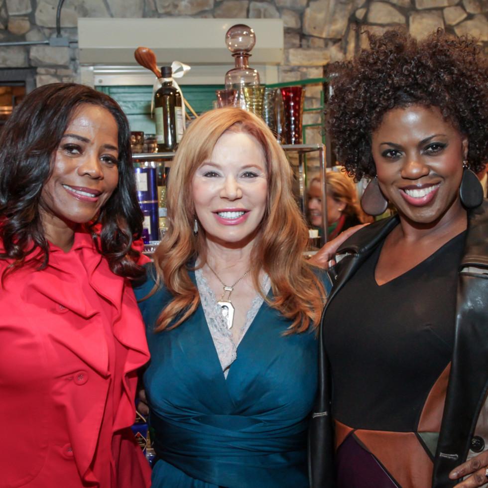 Ben Rose fundraiser Darian Ward, Cindi Rose, Priscilla Anderson