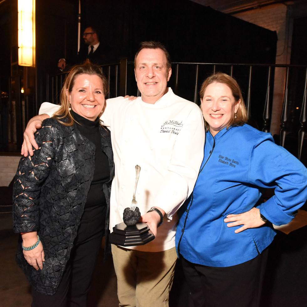 Houston, Truffle Chef Charity Challenge, January 2016, Le Mistral Chef David Denis, Diane Roederer, Elizabeth Stone
