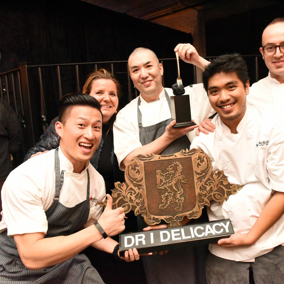 Houston, Truffle Chef Charity Challenge, January 2016, Kata Robata team with Chef Manabu Horiuchi, Diane Roederer.