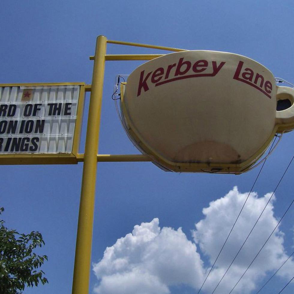 Kerbey Lane Cafe original coffee cup sculpture sign
