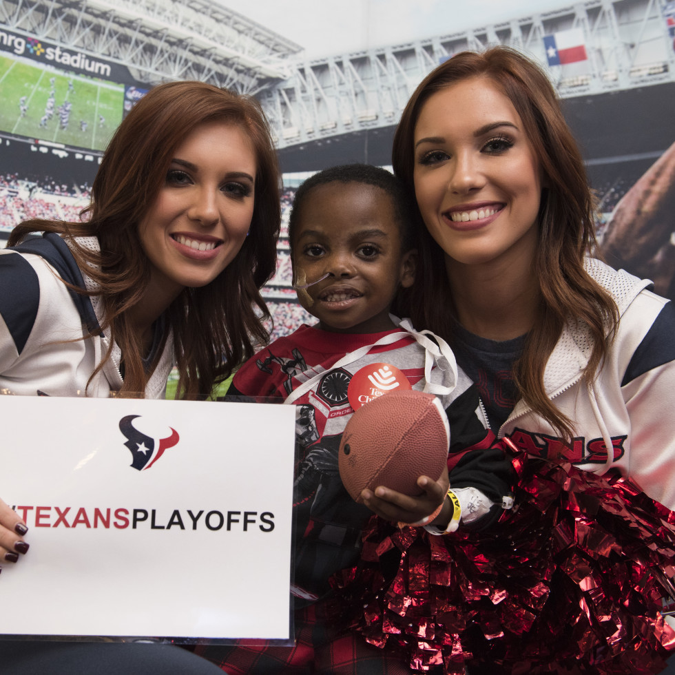 News, Texans at Texas Children's, Jan. 2016, Wade Smith