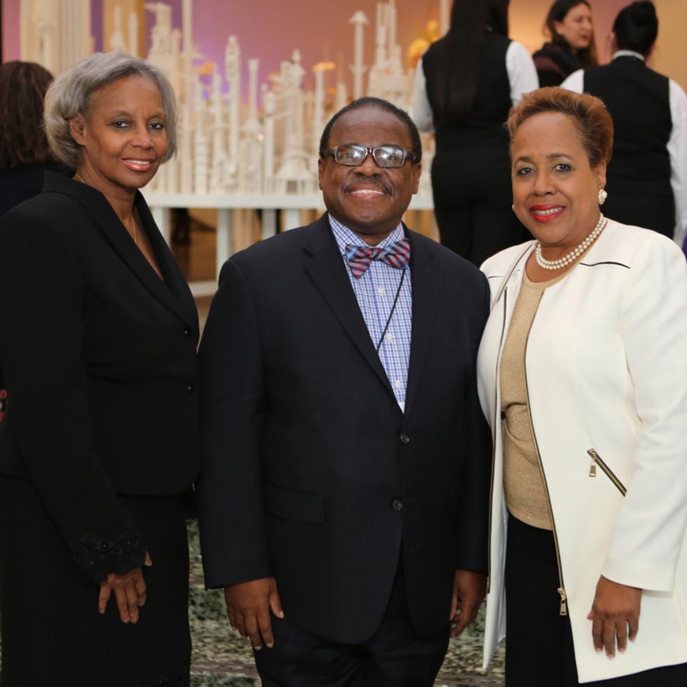 News, Mayor Sylvester Turner Inauguration, Jan. 2016, MFAH, Janice Weaver, Carl Davis, friend.