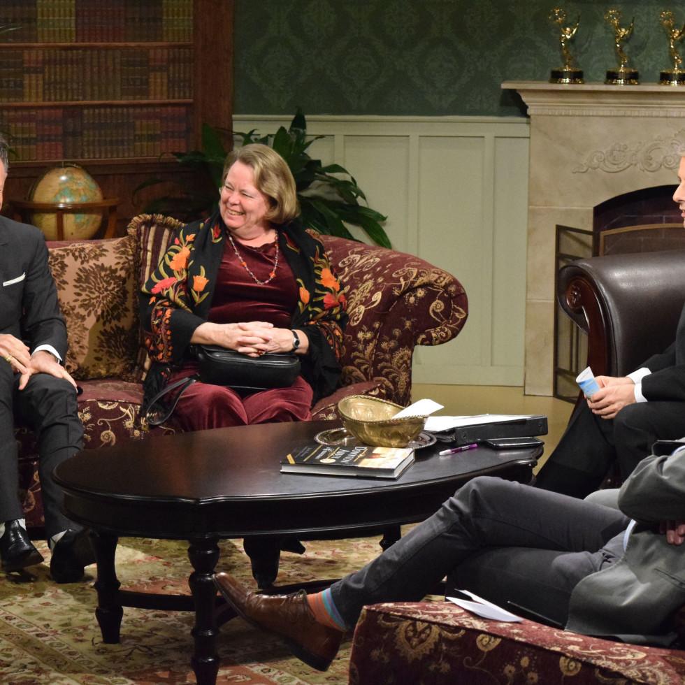 Lyle Lovett, Helen Mann, Ernie Manouse Downton Abbey Manor of Speaking