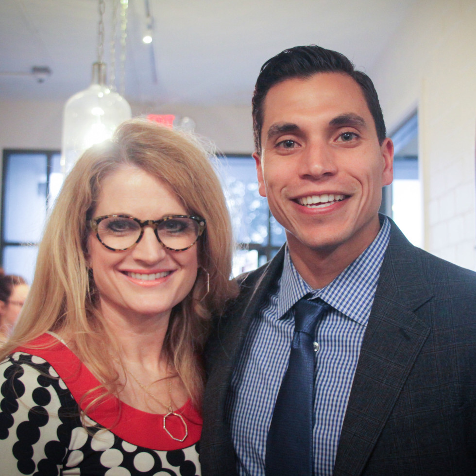 Define Body and Mind holiday soiree Susie and Luis Cavazos