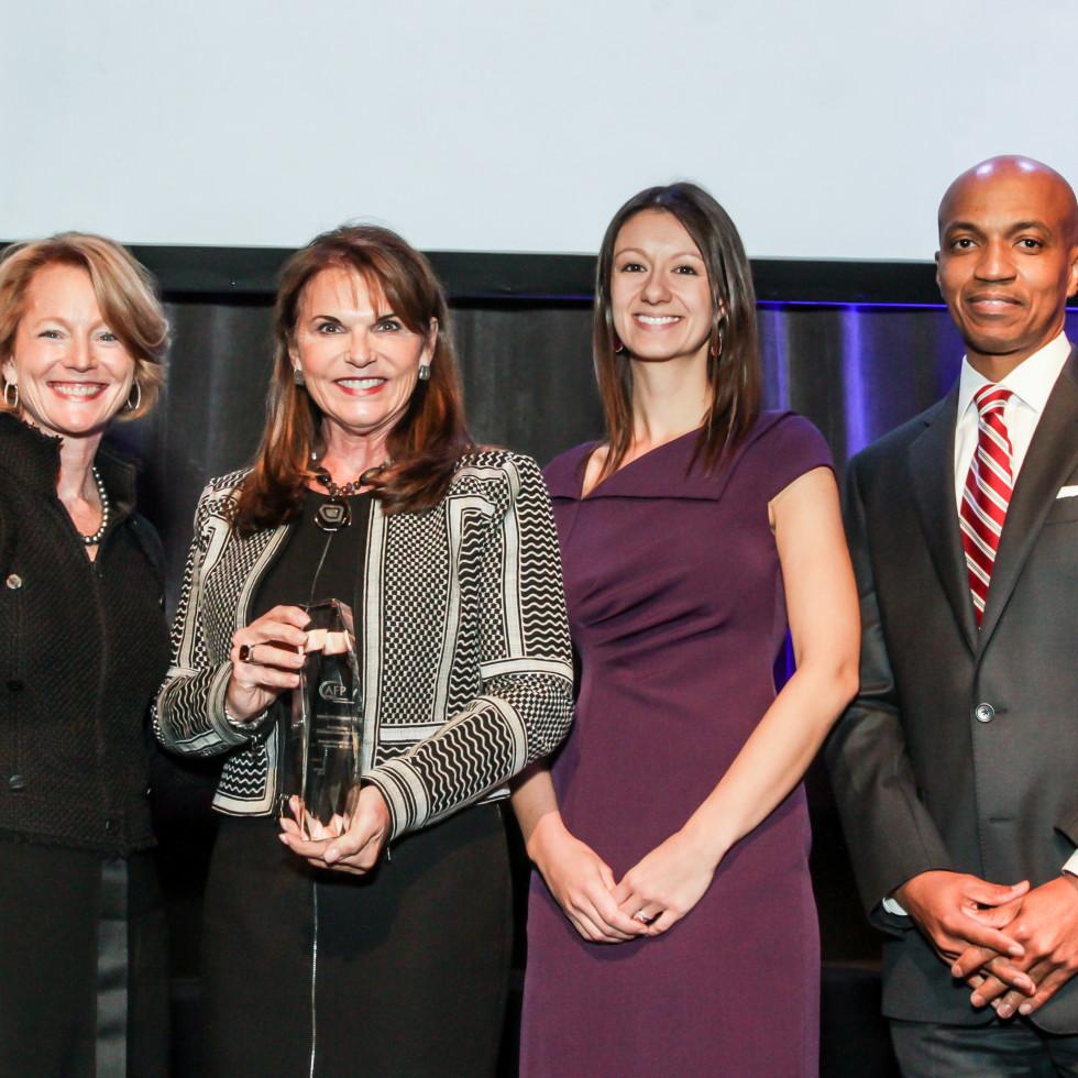 News, National Philanthropy Day Awards, Dec. 2015, Trish Morille, Susan McEldoon, Melissa Gilbert, Dale Lockett