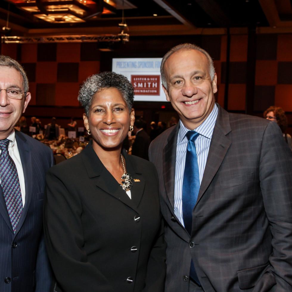 News, National Philanthropy Day Awards, Dec. 2015, Dr. Paul Klotman, Dr. Alicia Monroe, John Damonti