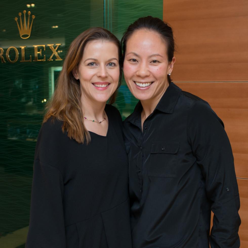 News, IW Marks Rolex Event, Dec. 2015, Caroline Simons, Ting Bresnahan
