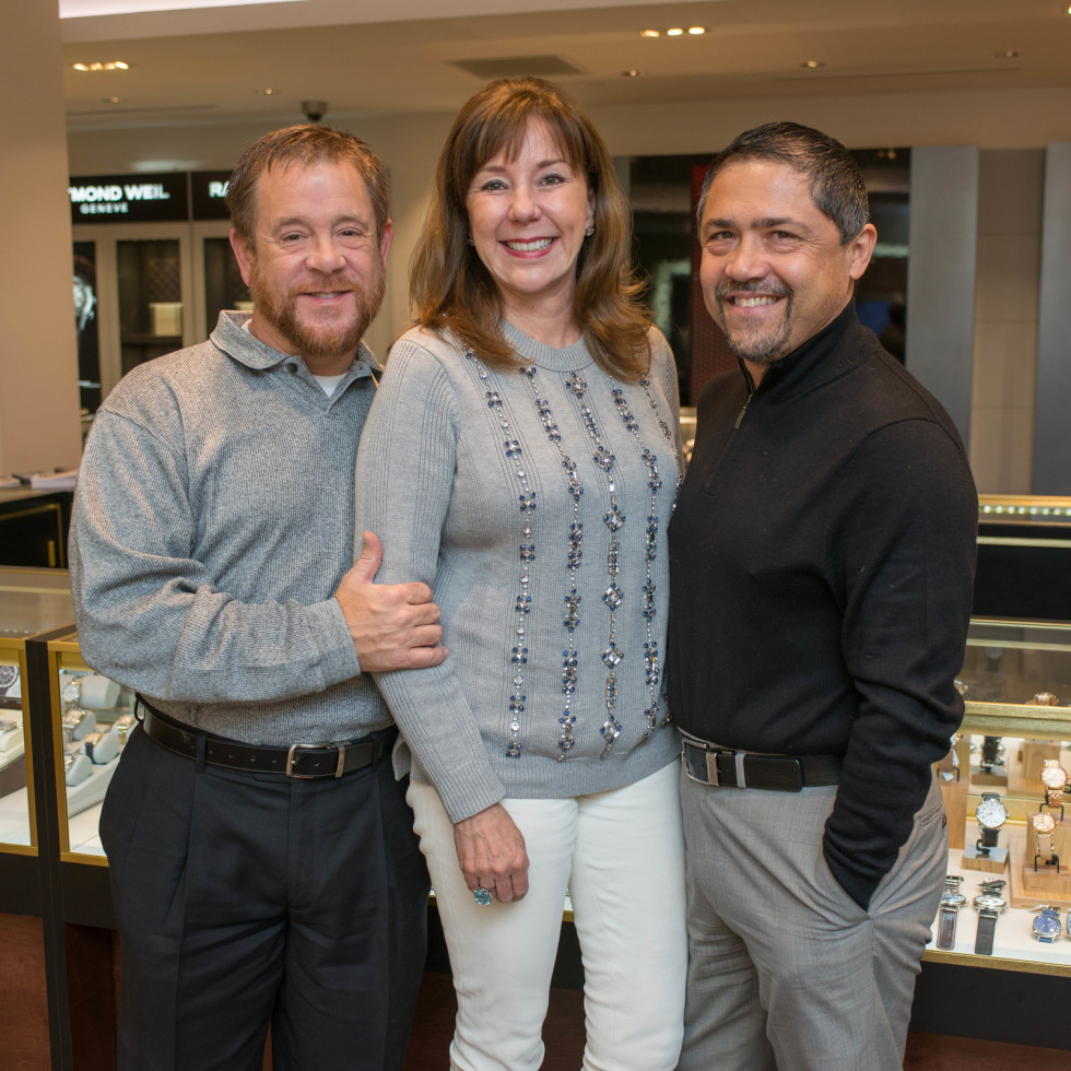 News, IW Marks Rolex Event, Dec. 2015, Shelby Kibodeaux, Elizabeth Stein, Bruce Padilla