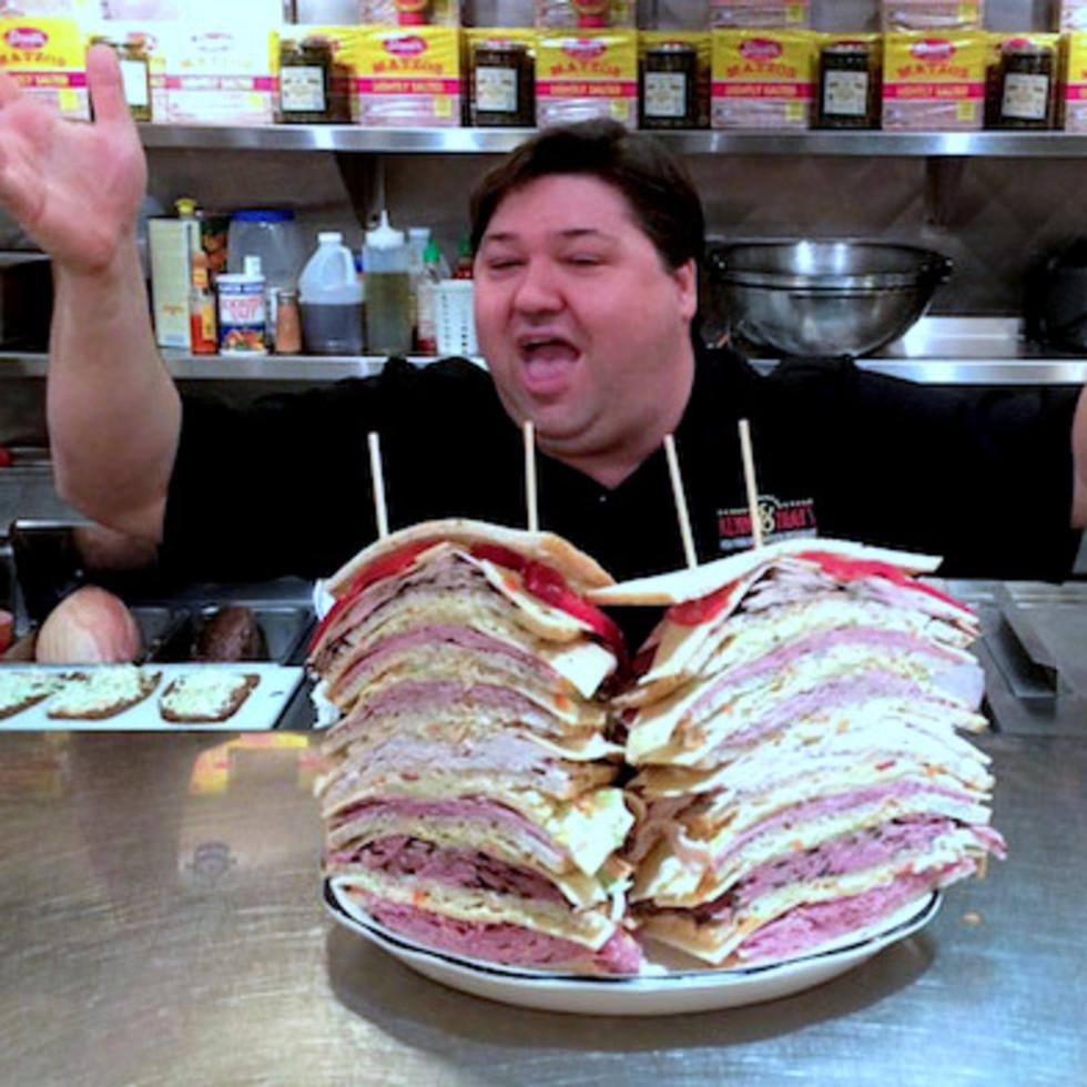Houston, Kenny & Ziggy's, December 2015, Zellagabetsky sandwich
