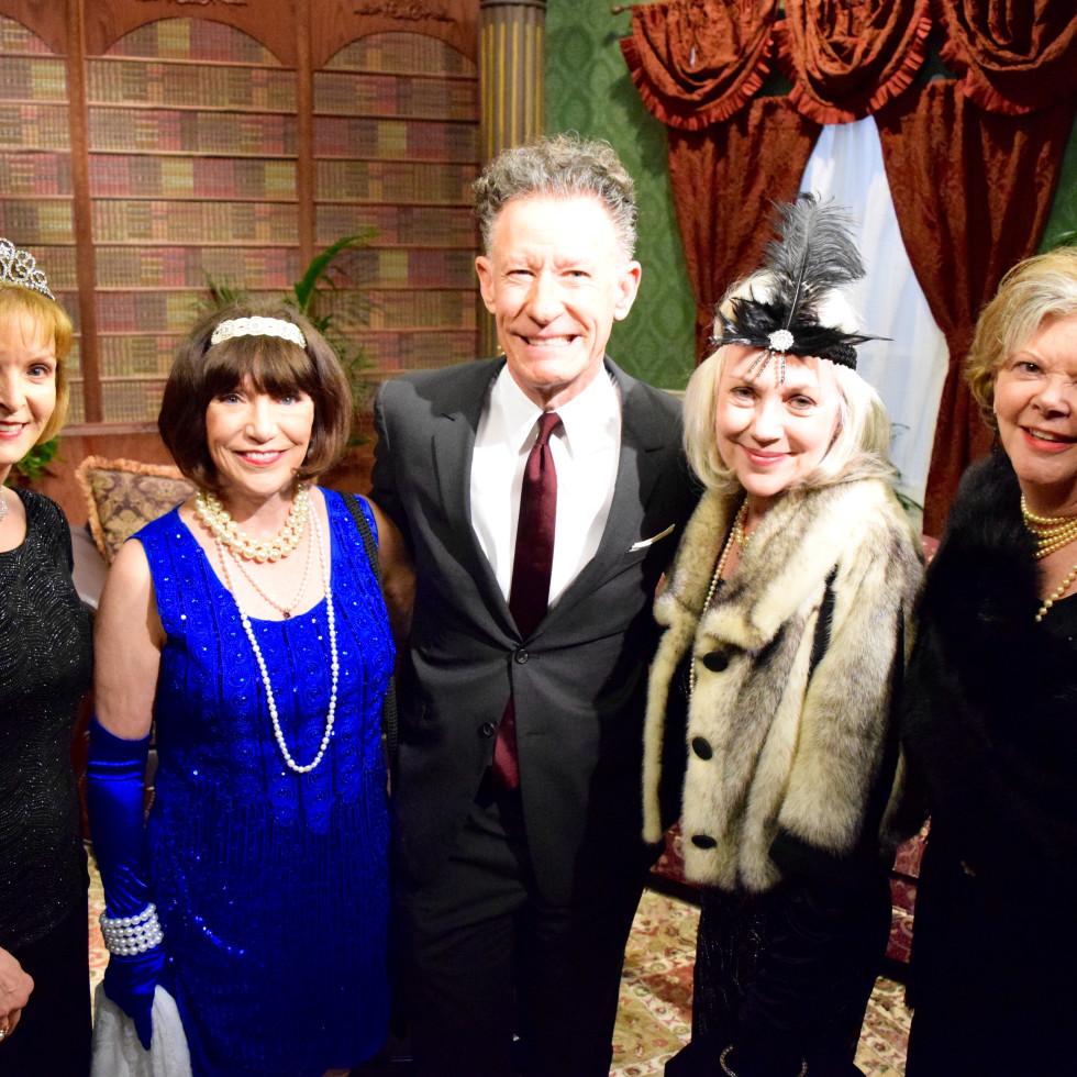 Lynda Steinway, Marilyn Ingham, Lyle Lovett, Suzanne Webb, Boone Bullington at Manor of Speaking Downton Abbey taping