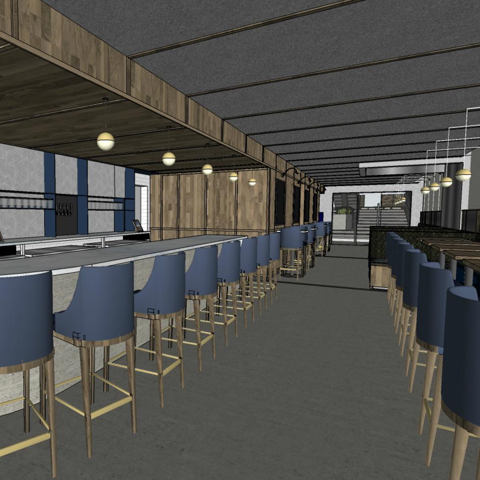 Backbeat bar South Lamar interior rendering December 2015