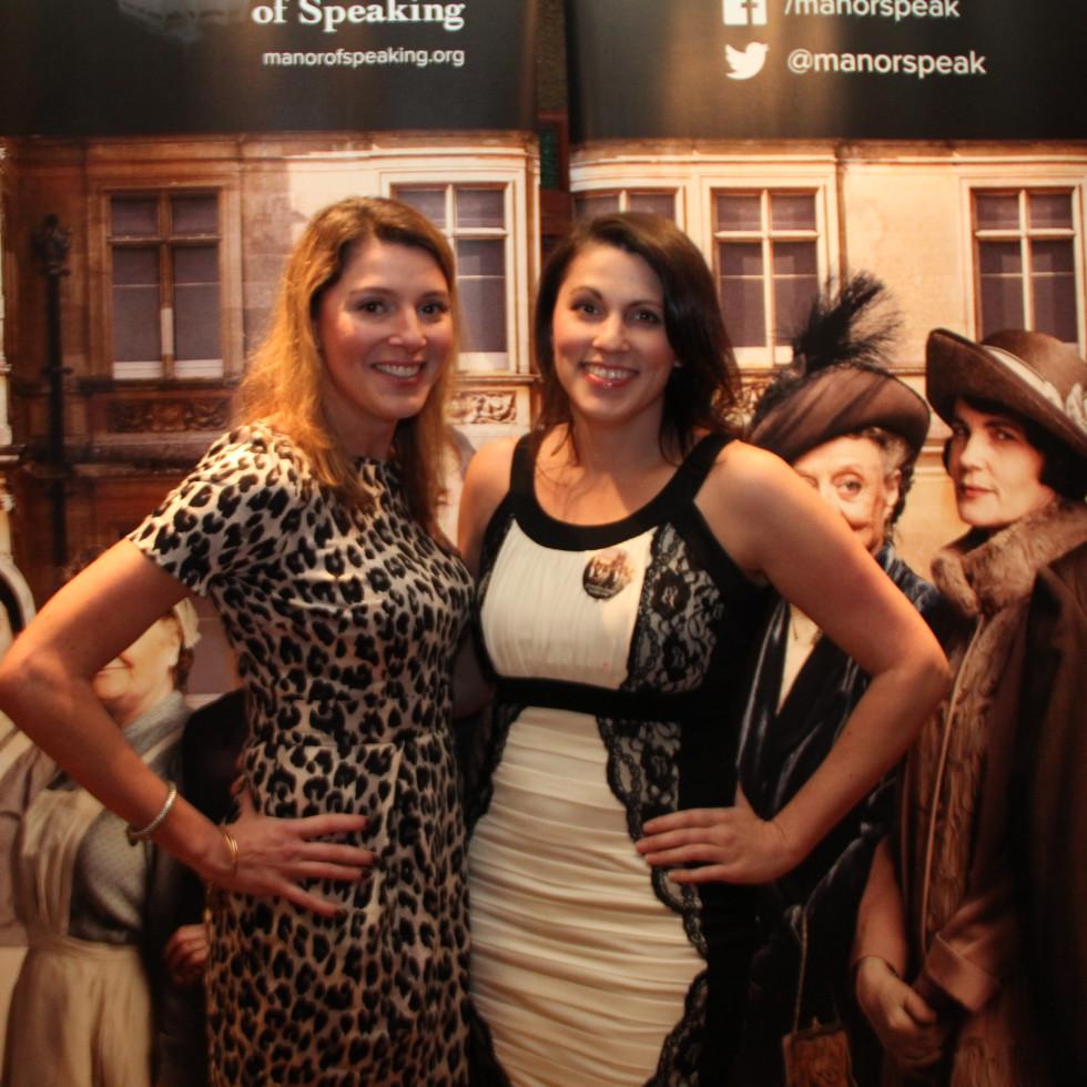 Cristina Wohadlo and Georgianna Siwek at Downton Abbey Manor of Speaking sneak preview