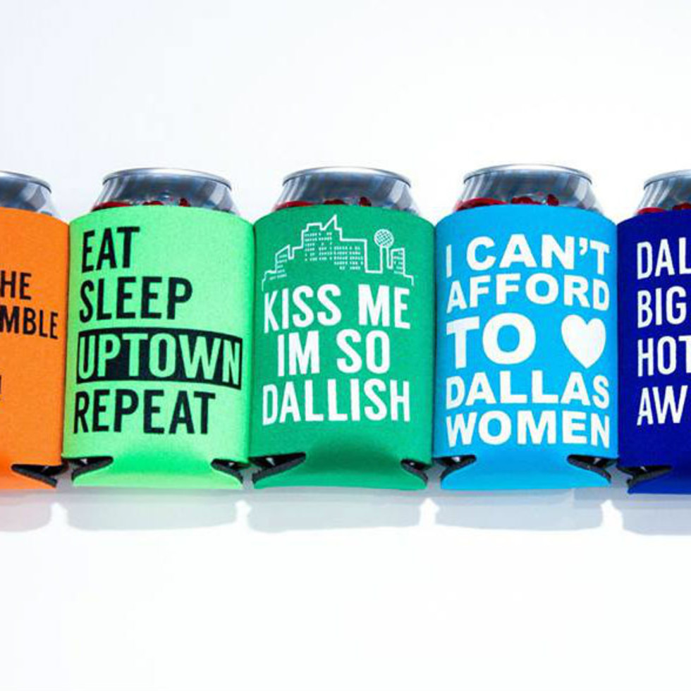 Dallas koozies from Bullzerk