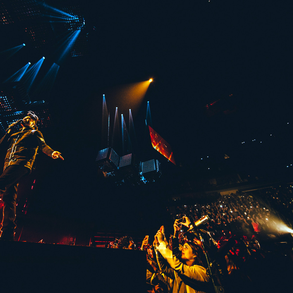 Houston, The Weeknd, December 2015, onstage