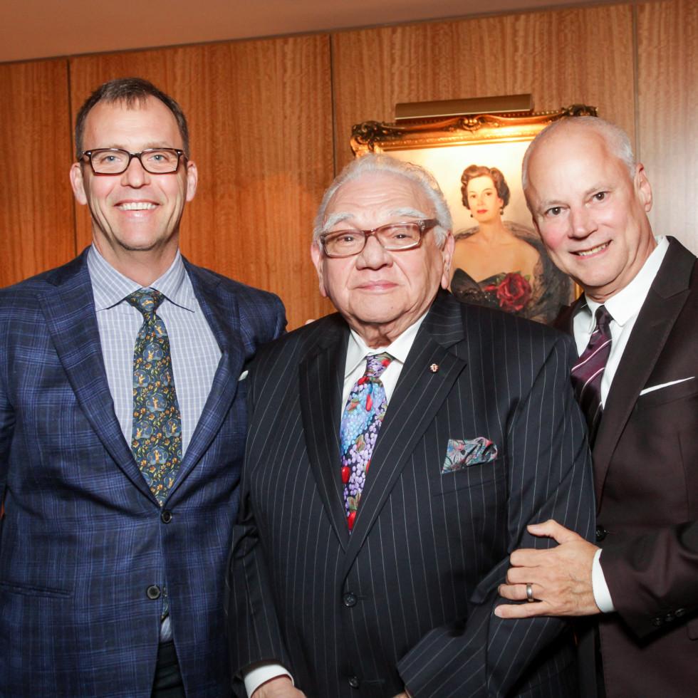 News, Legacy Holiday Schmooze, Dec. 2015, David Crawford, Frank Campisi, Tripp Carter.