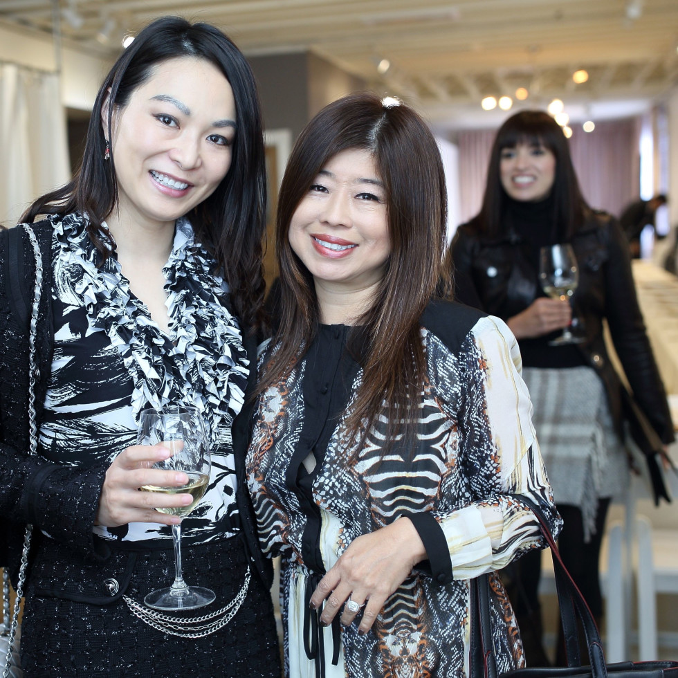 Cynthia Xue, Rose Chen at Miles David fashion show
