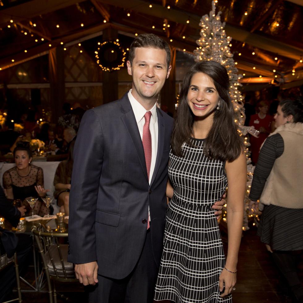 TCH Ambassadors holiday party Tyler Smith, Roula Zoghbi Smith